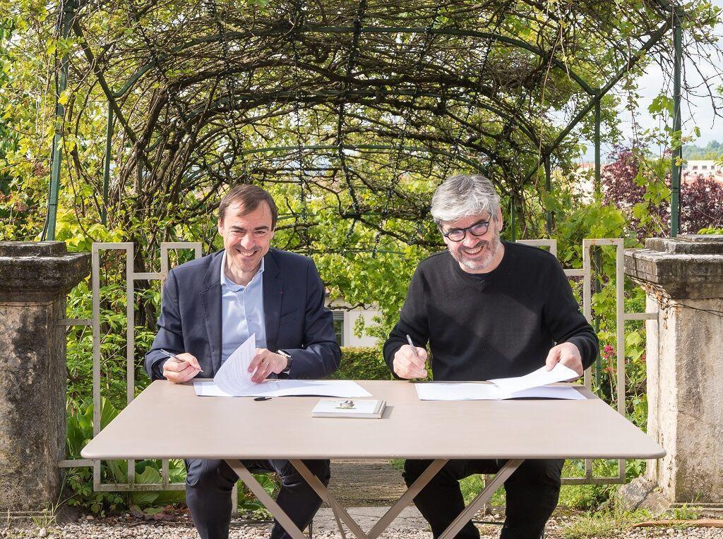 Daniel Karyotis – Directeur Général de la Banque Populaire Auvergne Rhône Alpes – et Dominique Delorme – Directeur des Nuits de Fourvière.
